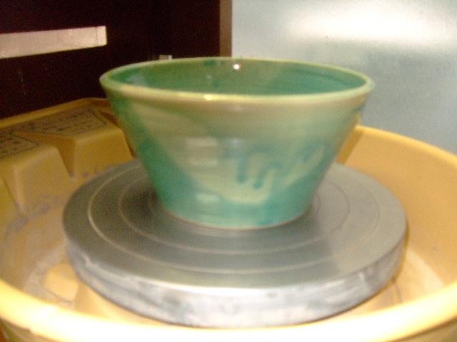 トルコ釉大鉢
