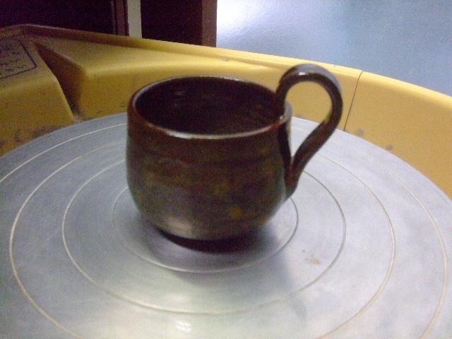 蕎麦釉スープカップ