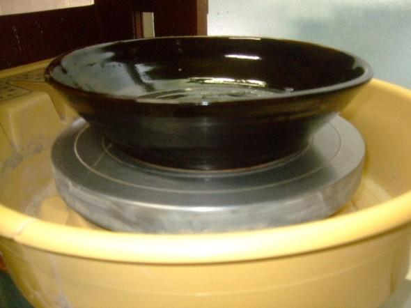 黒釉 大深皿